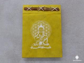 CrA220 Carnet Artisanal Népalais Bouddha