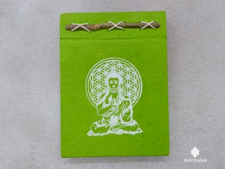 CrA223 Carnet Artisanal Népalais Bouddha