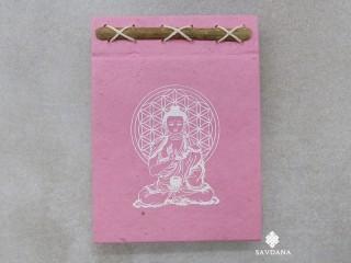 CrA224 Carnet Artisanal Népalais Bouddha