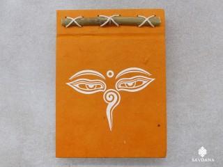 CrA226 Carnet Artisanal Népalais Yeux de Bouddha