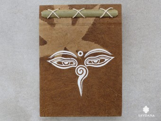 CrA227 Carnet Artisanal Népalais Yeux de Bouddha