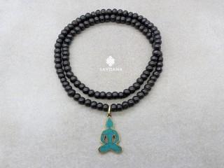 Mala154 Mala de Prières Tibétain Os de Buffle Bouddha