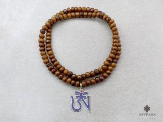 Mala157 Mala de Prières Tibétain Os de Buffle Om