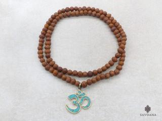 Mala164 Mala de Prières Tibétain Raktu Om