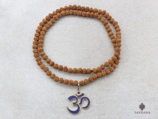 Mala165 Mala de Prières Tibétain Rudrashka Om
