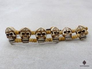 BrD419 Bracelet Tibétain Crâne