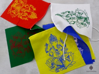 DP35 Drapeaux de Prières Tibétains Ganesh
