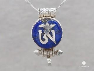 PA569 Pendentif Amulette Ghau Argent Massif Om