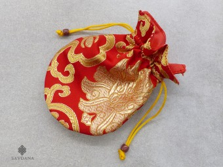 PochTib34 Petite Pochette Tibétaine pour Mala