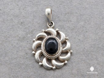PA273 Pendentif Argent Massif Onyx