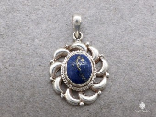PA294 Pendentif Argent Massif Lapis Lazuli