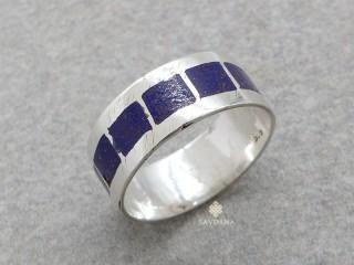 BA211 Bague Argent Massif Lapis Lazuli