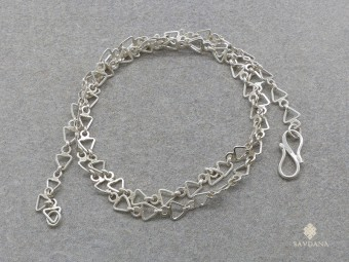 ChA24 Chaine Argent Massif 51 cm
