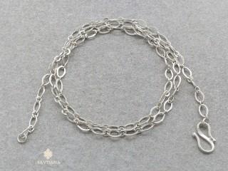 ChA28 Chaine Argent Massif 42 cm
