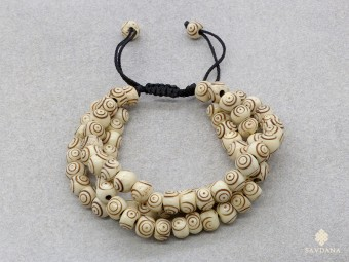 BrMala231 Bracelet Mala de Prières Tibétain Os de Buffle