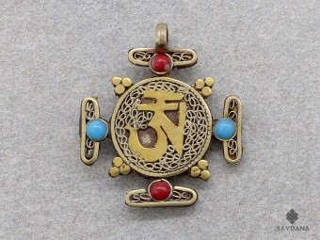 P09 Pendentif Tibétain Mandala Om