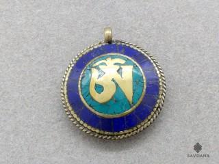 P63 Pendentif Tibétain Om Dorje Vajra