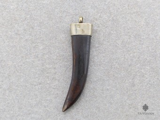 P77 Pendentif Tibétain Corne de Yak