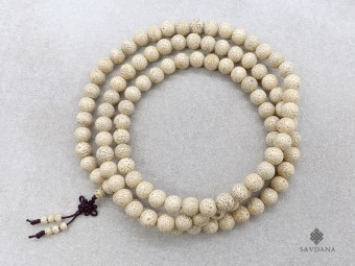 Mala107 Mala de Prières Tibétain Graines de Lotus 10 mm
