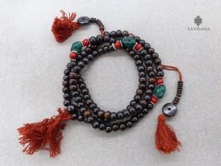 Mala169 Mala de Prières Tibétain Os de Buffle
