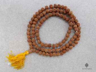 Mala109 Mala de Prières Tibétain Rudraksha 7 mm