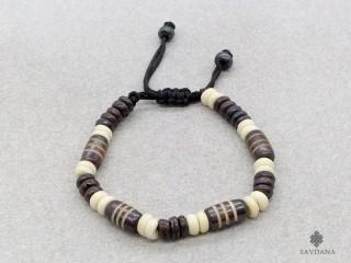 BrD216 Bracelet Tibétain Os de Buffle