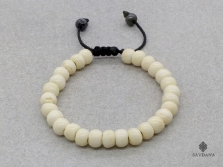 BrMala08 Bracelet Mala de Prières Tibétain Os de Buffle