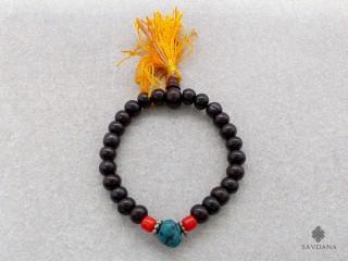 BrMala38 Bracelet Mala de Prières Tibétain Bois