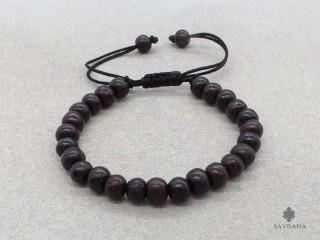 BrMala224 Bracelet Mala de Prières Tibétain Bois