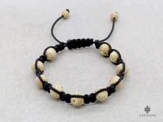 BrMala262 Bracelet Shambhala Tibétain Graines de Lotus