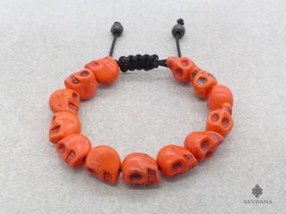 BrD391 Bracelet Mala Tibétain Crâne Tetes de Mort