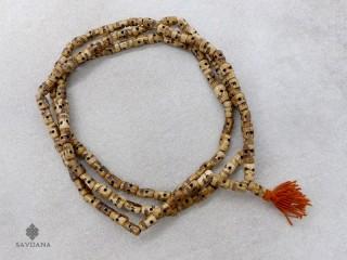 Mala142 Mala de Prières Tibétain Os de Buffle Tête de Mort