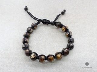 BrD215 Bracelet Tibétain Os de Buffle