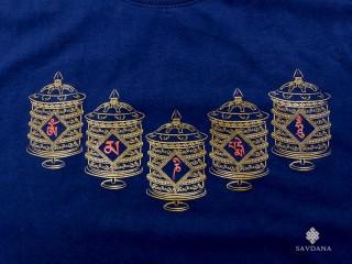 TSrt77 T-Shirt Roue à Prières Mantra