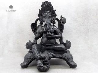 St44 Statue Ganesh Signes Auspicieux du Bouddhisme Astamangala