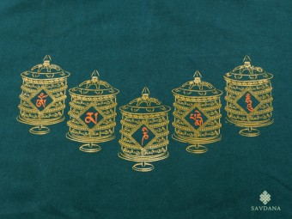 TSrt79 T-Shirt Roue à Prières Mantra