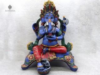 St59 Statue Ganesh Signes Auspicieux du Bouddhisme Astamangala