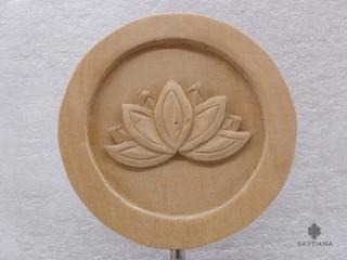 Div66 Sculpture Fleur de Lotus Bois Exotique