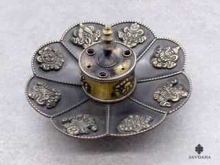 BE02 Brûle-Encens Bougeoir Fleur de Lotus Astamangala