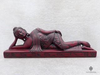 St28 Statue Bouddha Allongé Mantra Om Mani Padme Hum