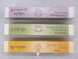 Ens15 Lot de 3 Boites d'Encens Tibétain