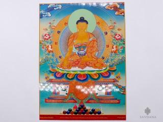 AF59 Affiche Tibétaine Bouddha