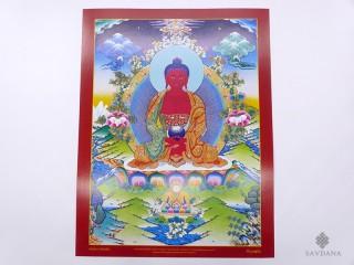 AF60 Affiche Tibétaine Bouddha