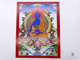 AF61 Affiche Tibétaine Bouddha