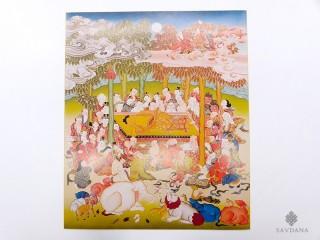 AF125 Affiche Tibétaine Bouddha