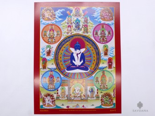 AF127 Affiche Tibétaine Samantabhadra