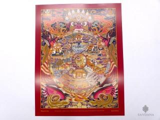 AF130 Affiche Tibétaine Roue de la Vie