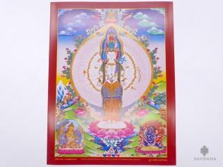 AF131 Affiche Tibétaine Avalokitesvara Chenrezig