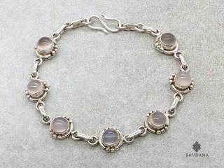 BrA100 Bracelet Argent Massif Quartz