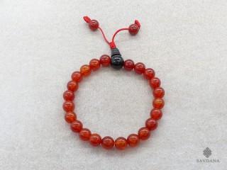 BrMala315 Bracelet Mala de Prières Tibétain Cornaline